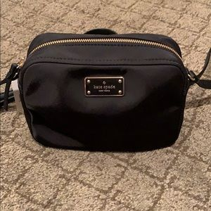 Black bag with straps
